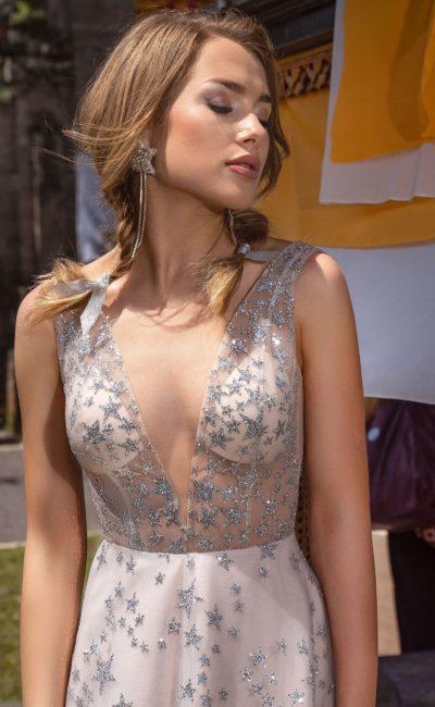 Длинное приталенное платье