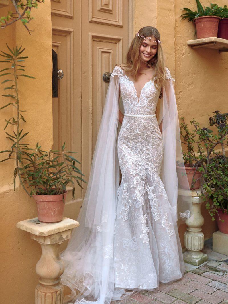 Ажурное свадебное платье-русалка