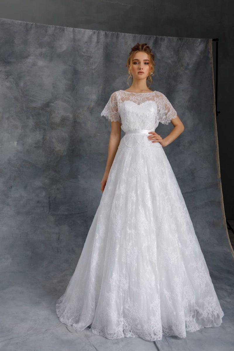 свадебное платье из тонкого фатина