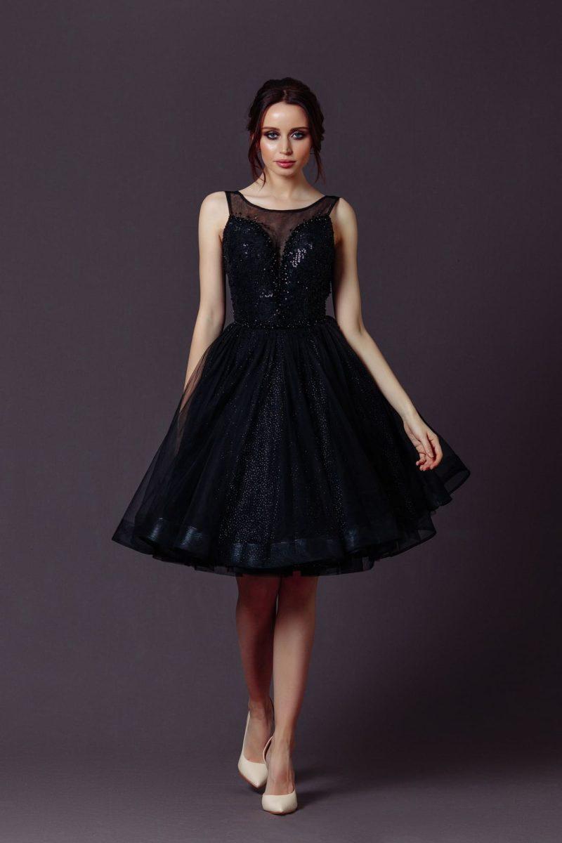 коктейльное платье «бэби долл» черного цвета