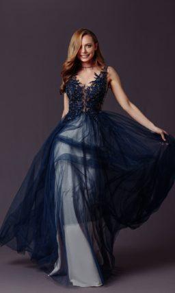 платье глубокого сине-зеленого оттенка