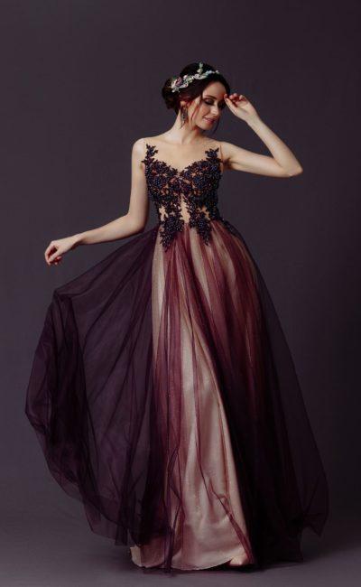 вечернее платье с длинной юбкой