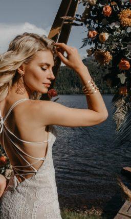 Летнее свадебное платье русалка