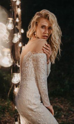 свадебное платье русалка из кружева