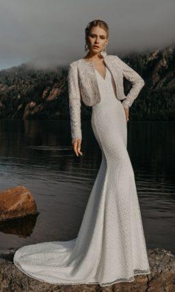 Свадебное платье с жакетом