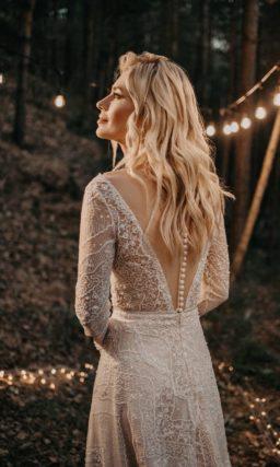 Свадебное платье в оттенке айвори