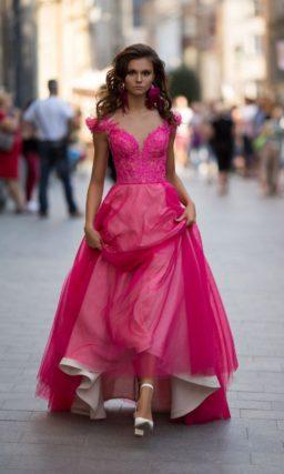 Выпускное платье фуксия