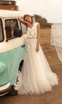 платье цвета айвори в стиле бохо