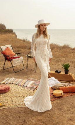 Свадебное платье рыбка в стиле бохо