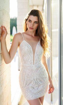 Летнее короткое свадебное платье