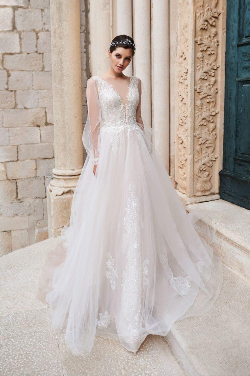Воздушное нежное свадебное платье