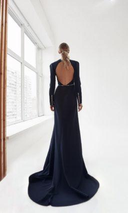 Свадебное платье темно-синего оттенка