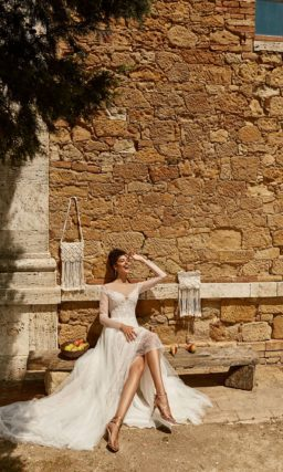 Свадебное платье из тонкого кружева
