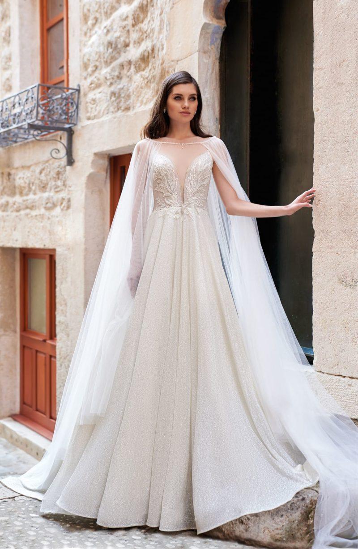 свадебное платье с юбкой А-силуэта