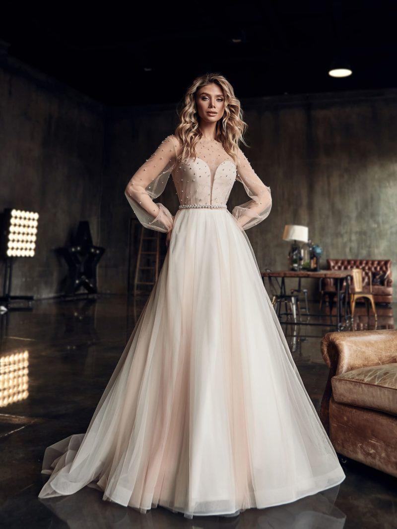 свадебное платье-трансформер теплого оттенка айвори