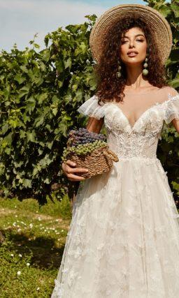 свадебное платье из легкого кружева