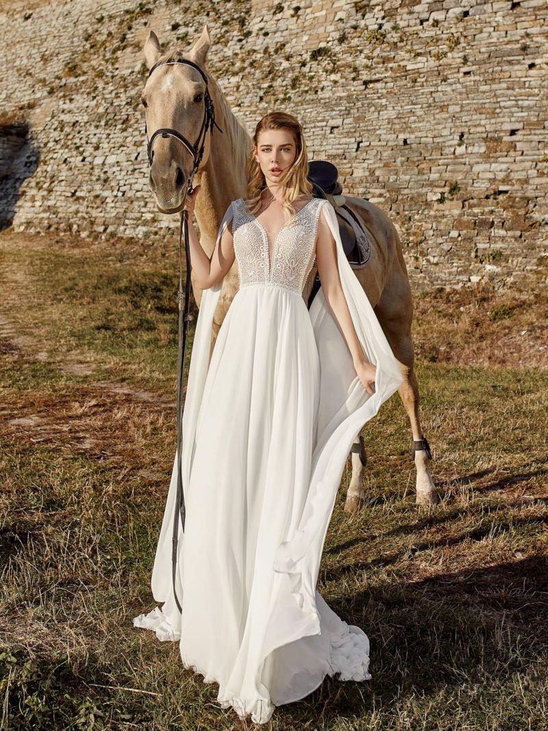 Легкое свадебное платье в греческом стиле