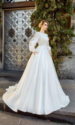Свадебное платье с карманами