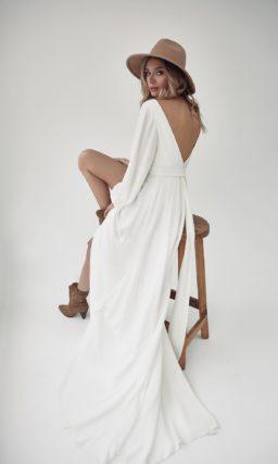 свадебное платье с длинными рукавами