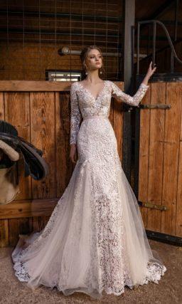 Кружевное платье русалка с кружевом