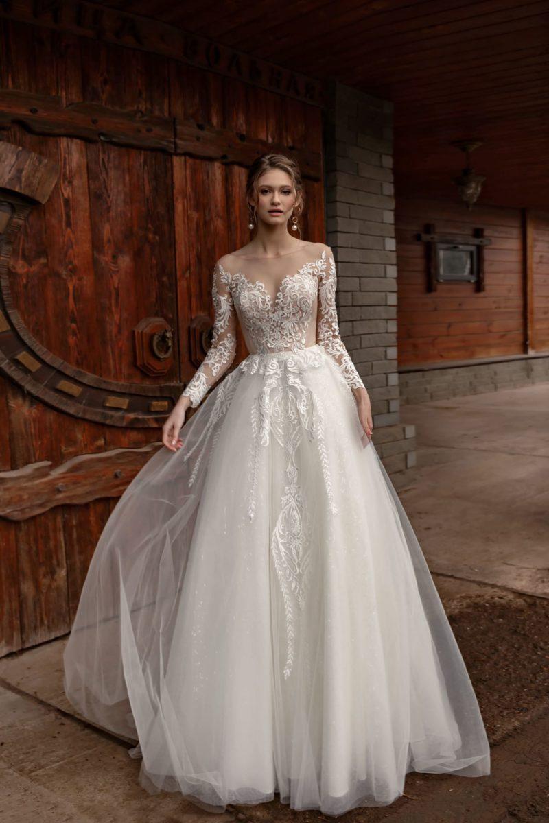 Воздушное пышное свадебное платье
