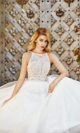 Легкое летнее свадебное платье