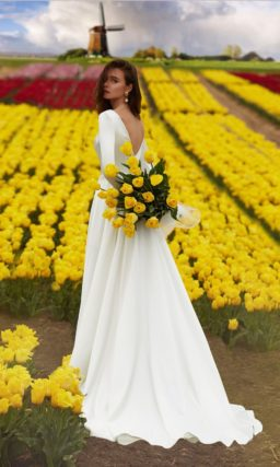 Платье для венчания с рукавом