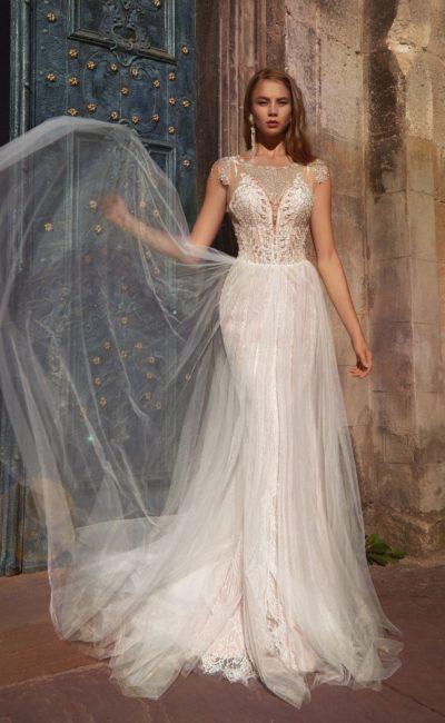 Свадебное платье-трансформер розового оттенка
