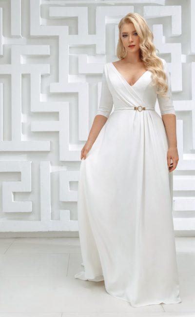 минималистичное свадебное платье прямого кроя