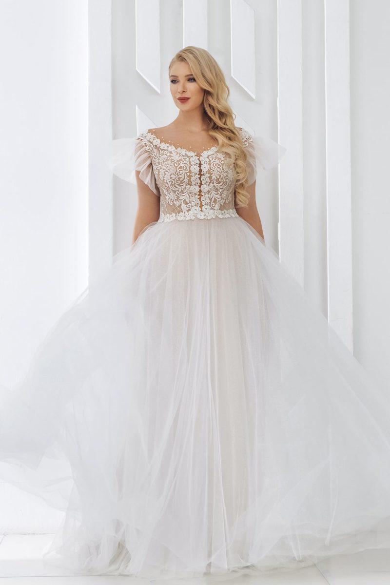 свадебное платье с легкой воздушной юбкой