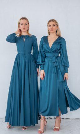 Вечернее платье с юбкой в пол