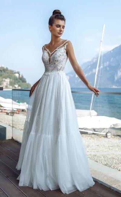 Свадебное платье из тонкого нежного кружева