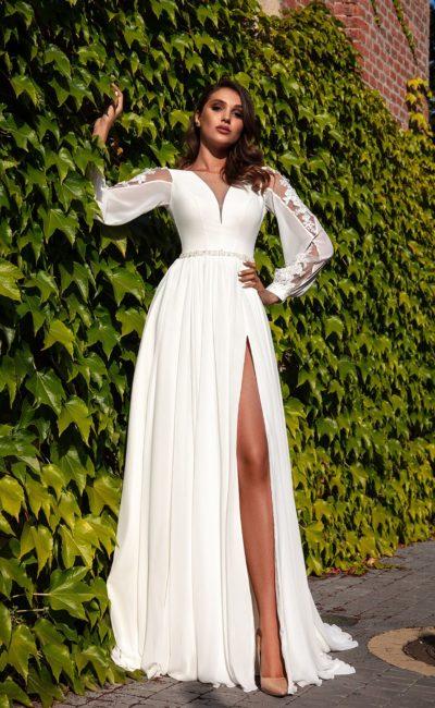 Свадебное платье в греческом стиле из шифона