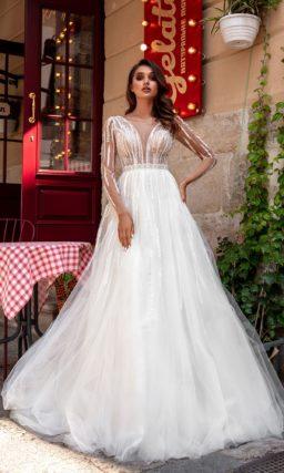 Свадебное платье в стиле nude