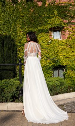 Легкое свадебное платье летнее