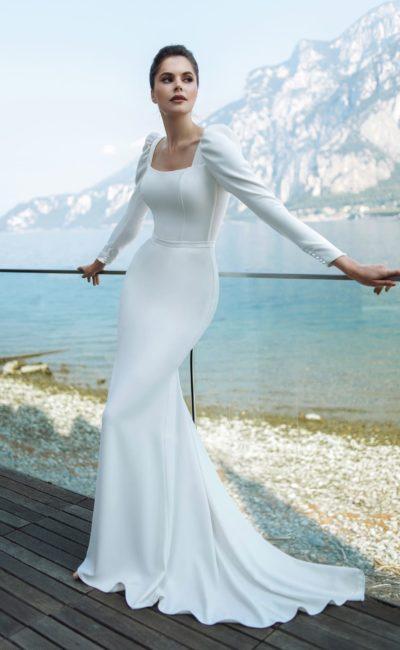 Платье русалка с втачным рукавом