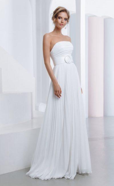 Греческое свадебное платье с поясом