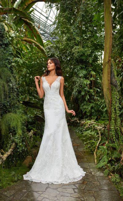 Красивое свадебное платье рыбка