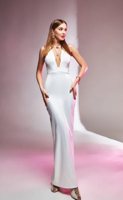 Свадебное платье русалка без рукавов