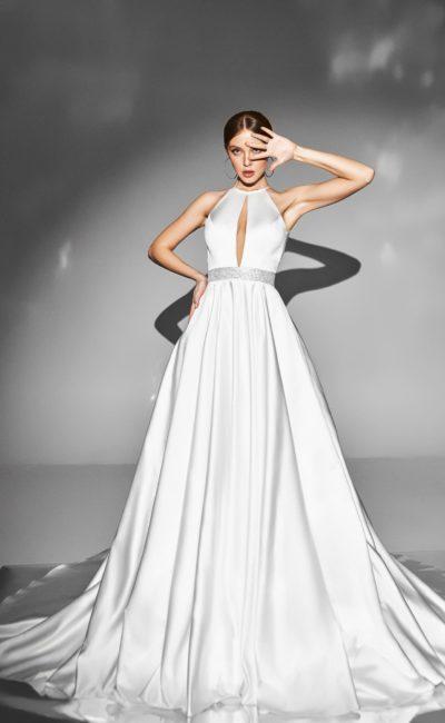 Свадебное платье лифом с американской проймой