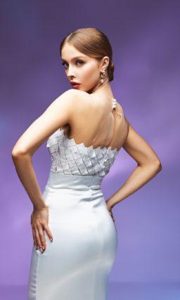 Свадебное платье русалка с бантом
