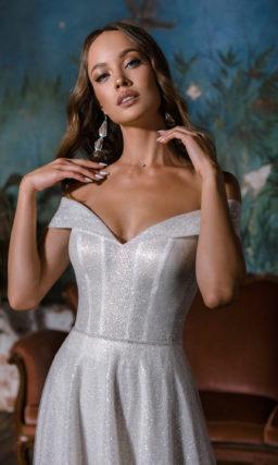 Свадебное платье с металлизированной фактурой