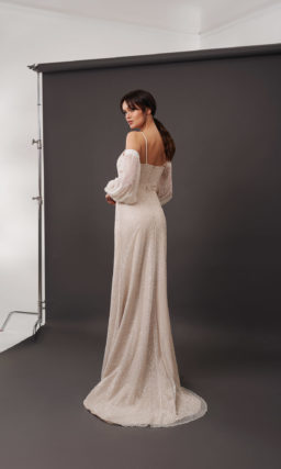 свадебное платье прямого кроя
