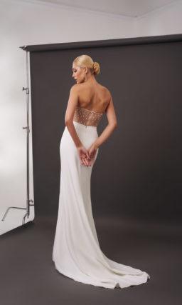 двуцветное свадебное платье