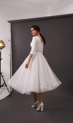 свадебное платье длины миди