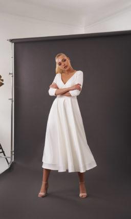 свадебное платье миди