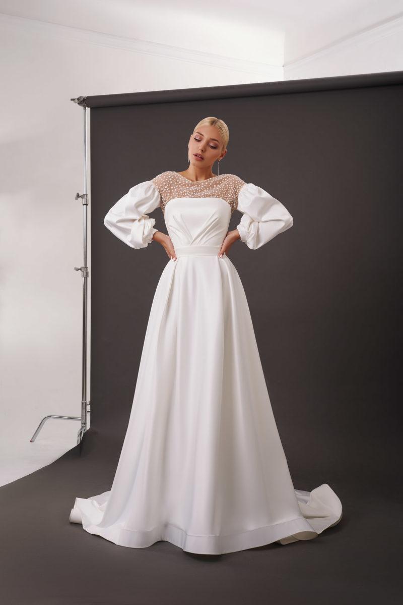 Свадебное платье-трансформер А-силуэта