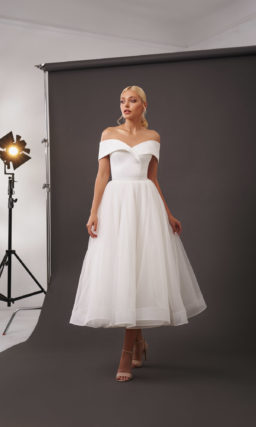 Пляжное короткое свадебное платье