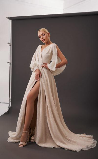 Свадебное платье скроенное на запах