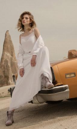 Свадебное платье с бомбером